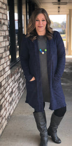 Longline Mid-weight Cardigan - Several Colors!