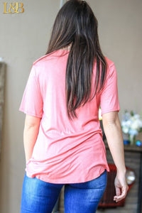 Light & Loose Scoop Neck Coral/Pinkish Tee