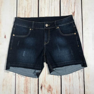 Hawthorne Denim Shorts with Released Hem - size 22