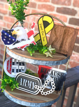 Military Themed 3D Tiered Tray wooden decoration set - All Branches Available