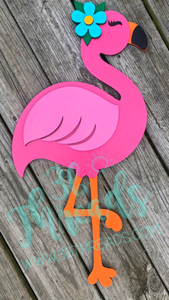 Fancy Flamingo 3D Door Hanger