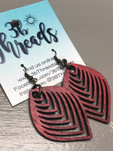 Laser Cut Wood Lightweight Earrings - 6 colors available