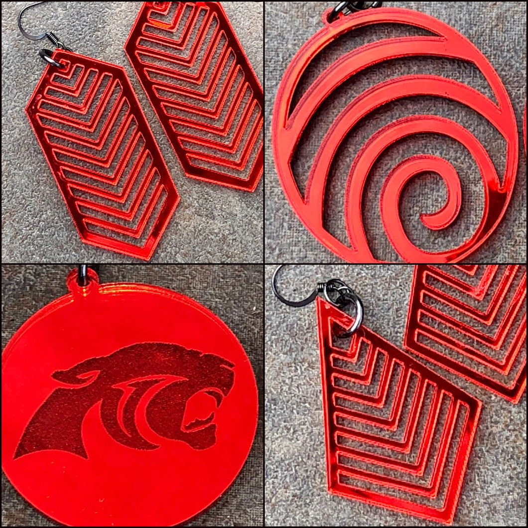 Mirror Red Acrylic Accessory Collection - Please see number on photo