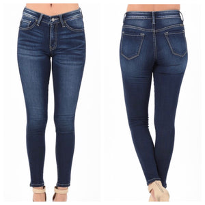KanCan Dark Wash Non-distressed Skinny Jeans - 3X