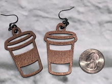 Coffee Cup Dangle Earrings - 3 sizes/colors available