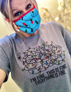 "Tangled Lights ""I'm Fine"" Christmas tee"