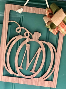 Custom Laser Cut Pumpkin Door Hanger or Wall decor
