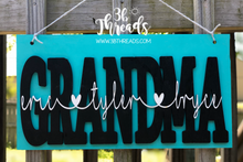 3D Custom Grandparents/Family Wall Hanging  (or available with stand)