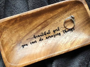 Custom Engraved Rectangle Dish