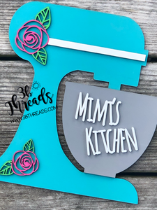 3D Kitchen Mixer Sign - available as count sitter or hanger