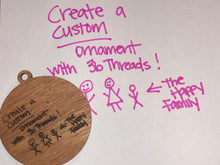 Custom ornament created from your drawing or writing!