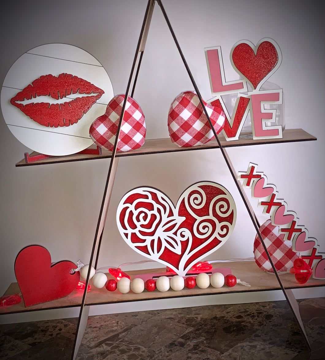 Valentine's Day Tiered Tray decoration set