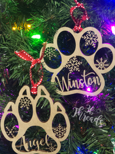 Custom Pet Ornament - Cat or Dog