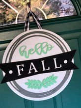 3D Hello Fall Door Sign or Shelf Sitter - Customize your colors!
