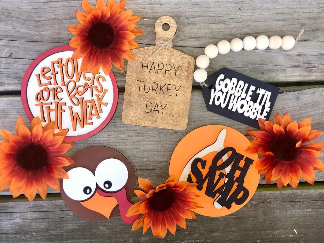 3D Fun Happy Turkey Day Tiered Tray Set (contains