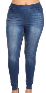 Medium Wash Jeggings - 3X