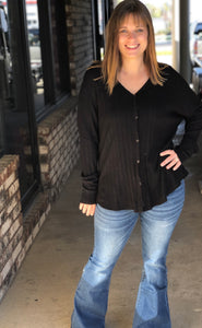 V-Neck Button-up Lightweight Top/Cardigan (can be worn tied or not tied)