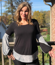Silver Bubble Sleeve Top - Medium