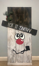Double Sided 3D Scarecrow/Snowman shelf sitter