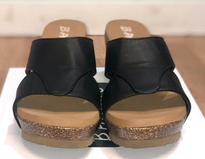 Black Studded Slip-on Wedges - Size 11 only