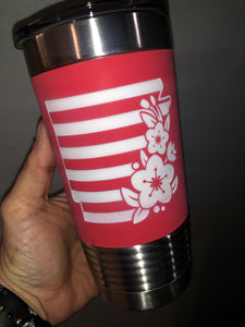 Custom Engraved Silicone Wrapped Polar Camel Tumbler - 20 oz