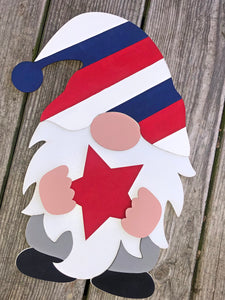 Interchangeable 3D Gnome (available as door hanger or with stand)