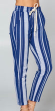 Blue & White Striped Linen Pants (S-L) - See other listing for 1X-3X