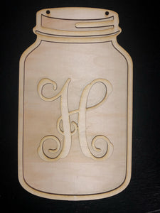 Paint it Your Way 3D Mason Jar Door Hanger Blank Cutouts - 3 sizes