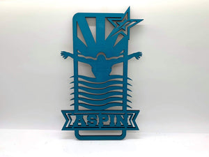 "Custom Laser Cut Name Sports/Activities Wall Hanging - 10"" or 18.5"" options available (Finished or Paint It Your Way)"