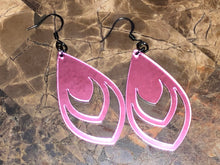 Mirror Pink Acrylic Earring Collection - Several Items available