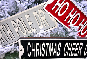 3D Christmas Street Signs for tree, shelves, tables or wall!