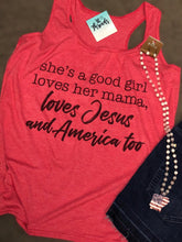 """She's A Good Girl"" Heather Red Tank or Heather Red Bleached Tee"