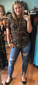 Light Knit Leopard Top