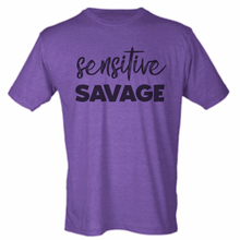 """Sensitive Savage"" Tee - available bleached and unbleached"