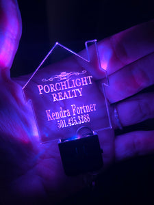 Custom LED Light Acrylic key chain