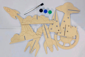 Space Trio kit - Paint it Your Way Complete Kit for kids!