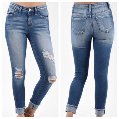 KanCan Soft & Stretchy Distressed Skinny Jeans