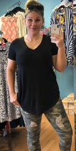 Basic V-Neck Tee with Round Hem - 7 COLORS