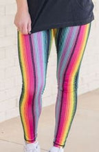 Vibrant Serape Compression Leggings - Yoga, Workout, Running, etc... sizes S & M