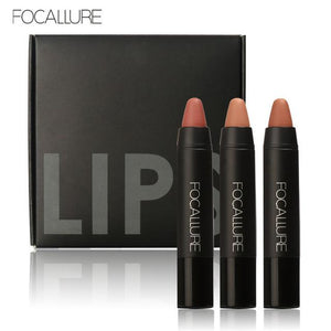Focallure WaterProof Matt Lipstick (Pack of 3)