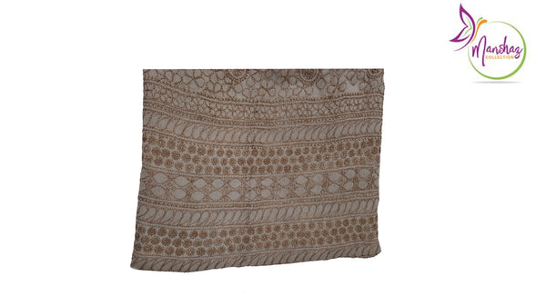 Pure Silk Chikankari Shirt - Coffee