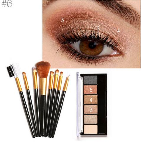 Focallure 6 Colrs Eye Shadow & Brushes