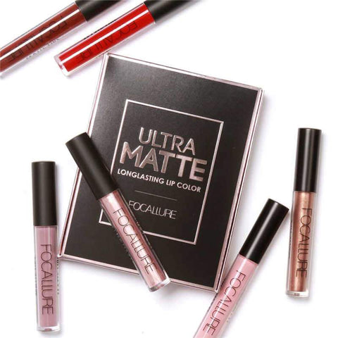 Focallure Waterproof Matte Liquid Lipstick (Pack of 3)
