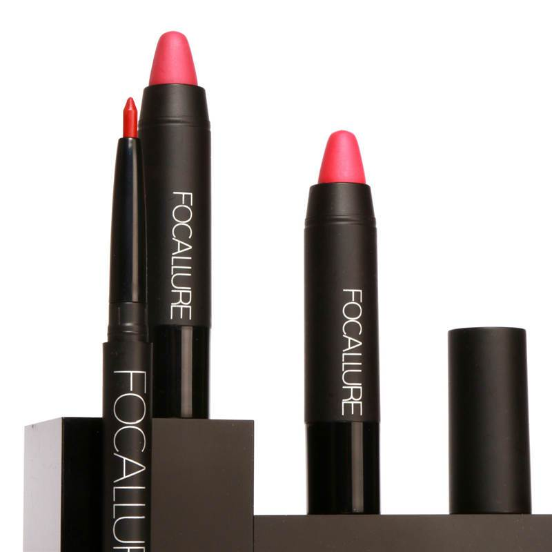 Focallure Waterproof Matte Lip Crayon + Lip Pencil (No.10)