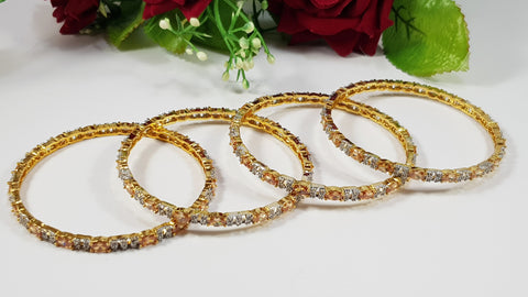 2 Color Zircon Bangles