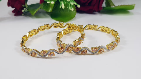 Pair Of Bangles - Champagne Color