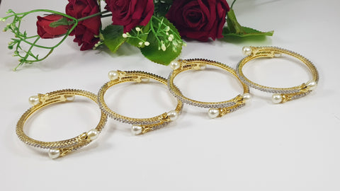 Bangles with Pearls