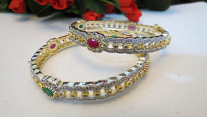 Openable Bangles Ruby/Emerald