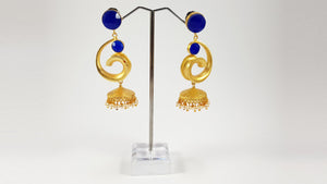 Blue Jhumki Tops