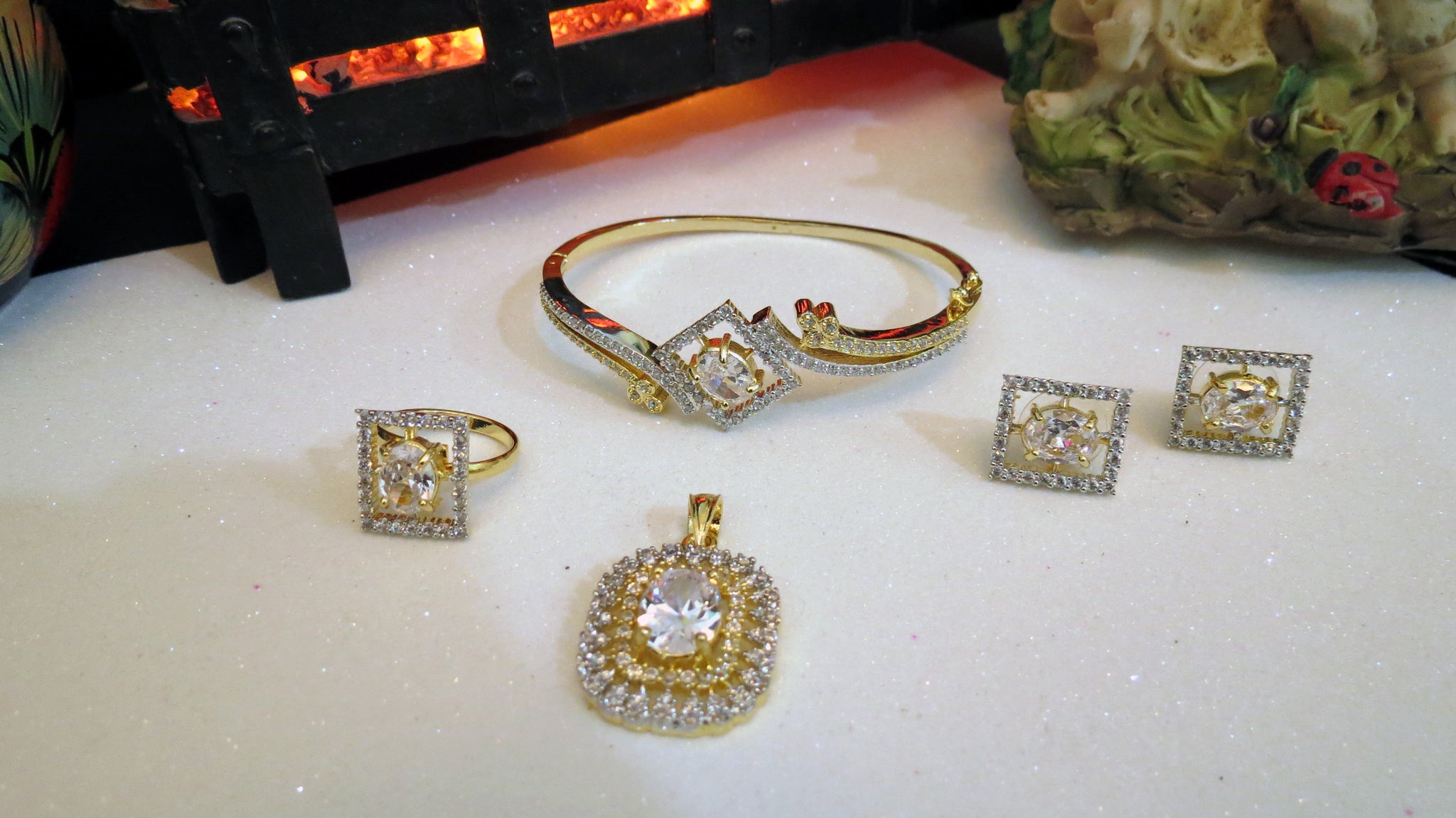 Square Shape Jewelry Set